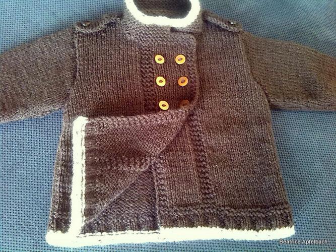 Makerist - Babyjacke mit Schulterklappen - Strickprojekte - 3