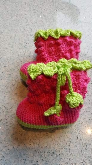 Makerist - Babystiefel Himbeere - 1