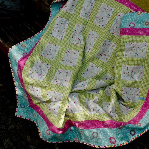Makerist - Tagesdecke / Baumwollstoffe / fürs jüngste Tochterkind - Patchwork-Projekte - 2
