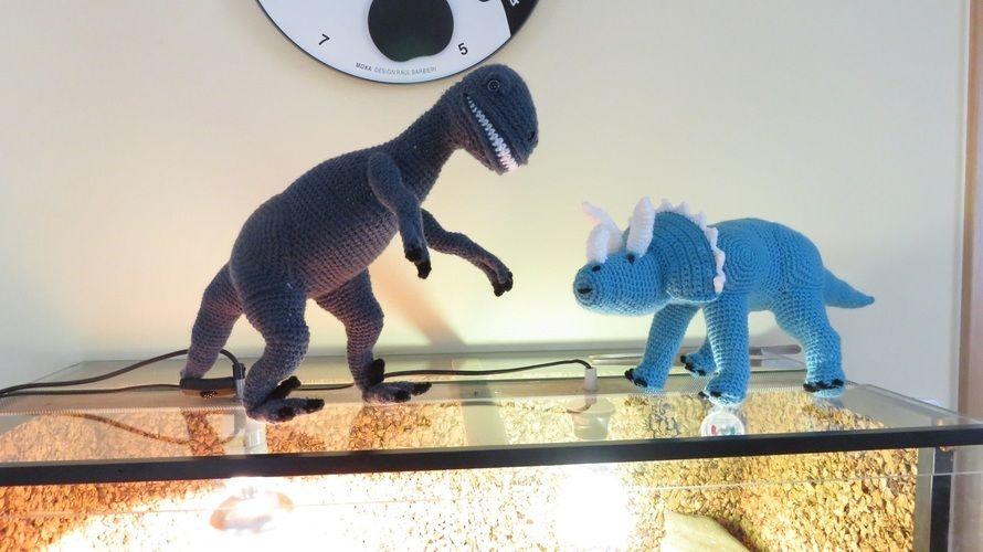 Makerist - Triceratops und Raptor - Häkelprojekte - 1