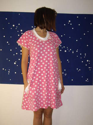 Makerist - rosa Nachthemd - 1