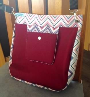 Makerist - Tasche in Nylon/Baumwolle mit Handytasche  - 1