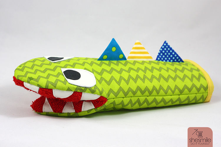 Makerist - Ofenhandschuh Krokodil Frederick - Nähprojekte - 3