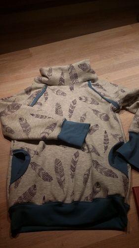 Makerist - Hoodie für meinen großen aus Alpenfleece - Nähprojekte - 1