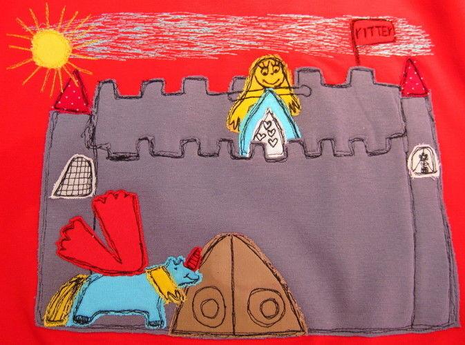 """Makerist - """"Bemalte"""" Kindershirts mit Kinderzeichnungen - Nähprojekte - 1"""
