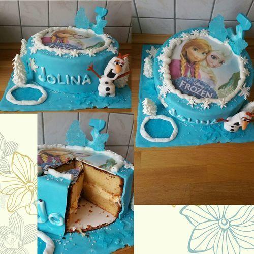 Makerist - Frozen-Torte für meine Enkelin :-) - Torten, Cake Pops und Cupcakes - 1