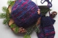 Makerist - Zwergenmütze & Babyhandschuhe aus handgesponnener Wolle (0-4 Monate) - 1