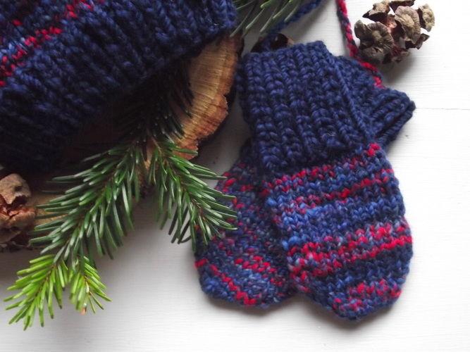 Makerist - Zwergenmütze & Babyhandschuhe aus handgesponnener Wolle (0-4 Monate) - Strickprojekte - 2