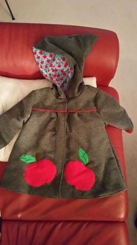 Makerist - Mantel Gretchen, Walkloden Stoff, voll gefüttert. Für mein kleines Enkelchen. - Nähprojekte - 1