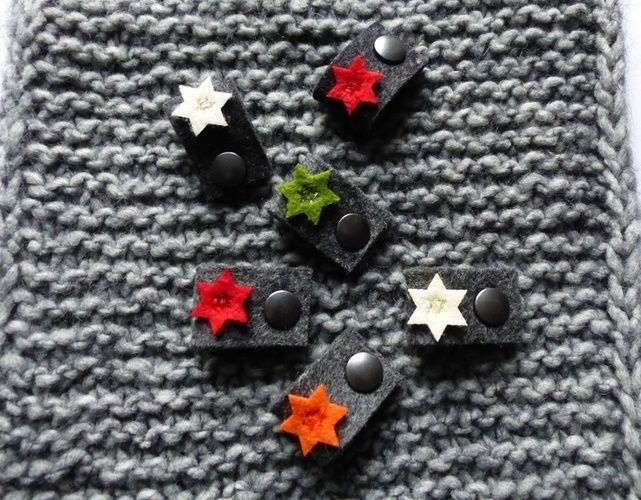 Makerist - Filz-Label mit kleinen Sternen in grün - Filzprojekte - 2