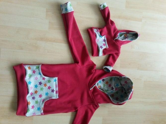 Makerist - Kinder-Hoodie im Partnerlook mit der Puppe  - Nähprojekte - 1