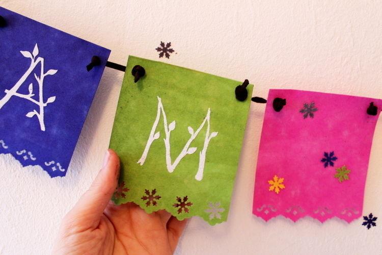 Makerist - Wimpelkette aus ColARTex - DIY-Projekte - 3