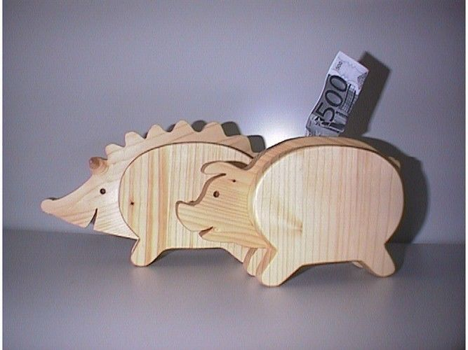 Makerist - Spardosen - Sparigel - Sparschwein aus Regalbodenbrett gesägt - DIY-Projekte - 1
