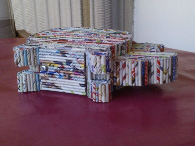 Makerist - Sparschwein - Papierröllchen - DIY-Projekte - 3
