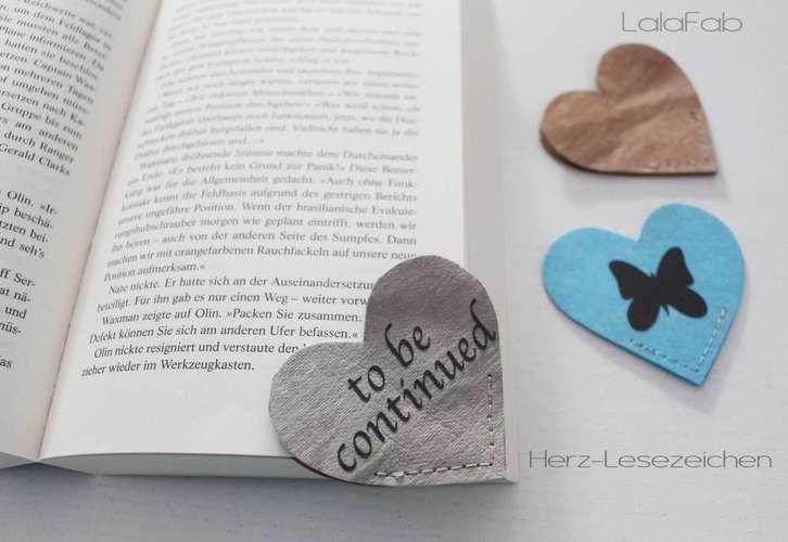 Makerist - Herz-Lesezeichen - Eine schnelle Geschenkidee für Leseratten - Nähprojekte - 1
