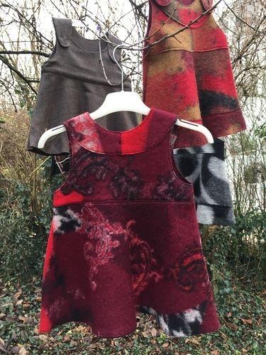 Makerist - Winterkleid aus rotem Walkstoff - Nähprojekte - 2