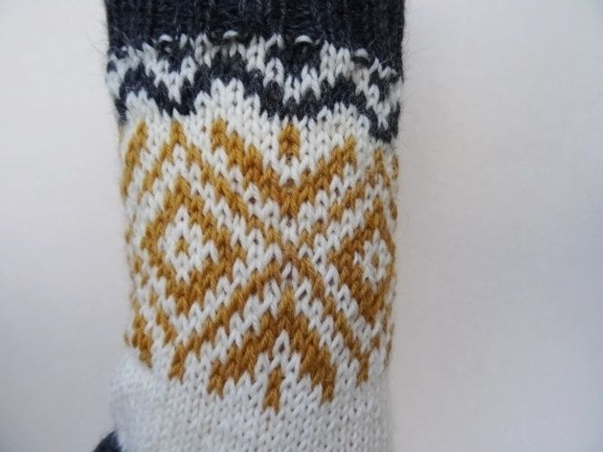 Makerist - Socken mit goldenem Norwegermuster - Strickprojekte - 2
