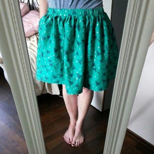 Makerist - Rock Lady ShuShu in grün - Nähprojekte - 1