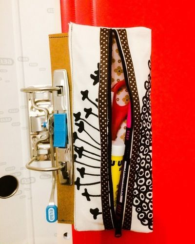 """Makerist - """"Conne"""" Stifteetui zum abheften nach der Anleitung von Min Ziari. Gemacht aus 1x Jeans und 1x Baumwolle mit SnapPap für eine Studentin und eine Lehrerin.  - Nähprojekte - 2"""