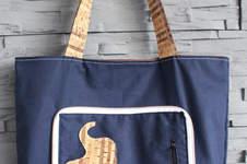 Makerist - Einkaufstasche Calliope (Freebook) mit Korkstoff und Applikation - 1
