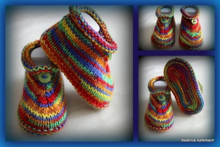 Makerist - Bunte Booties - Strickprojekte - 1