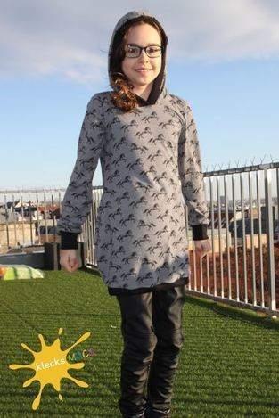 """Makerist - Mädchenkleid """"Farbklex"""" von Herzensbund Design aus Jersey in Gr. 140/146 - 1"""