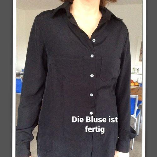 Makerist - Bluse für mich! ☀aus einem flutschigem Material. Dank der tollen Anleitung hat aber alles super geklappt! ❤️ - Nähprojekte - 1
