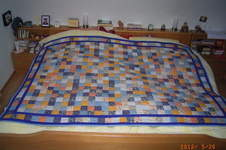 Makerist - Patchworkdecke blau - 1