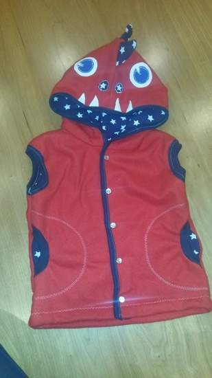 Makerist - Fleeceweste Roter Drache für meinen Sohn (2) - 1