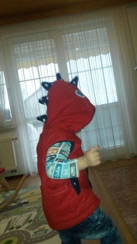 Makerist - Fleeceweste Roter Drache für meinen Sohn (2) - Nähprojekte - 2