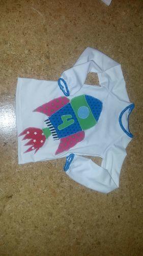 Makerist - Raketengeburtstagsshirt für eine 4jährige! - Nähprojekte - 1