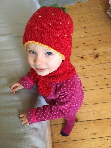 Makerist - Erdbeermütze und Steckschal für Kinder - Strickprojekte - 1
