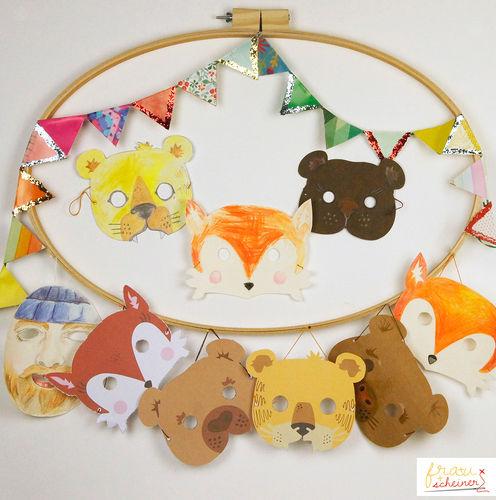 Makerist - Bären Maske zum Selbermachen - DIY-Projekte - 2