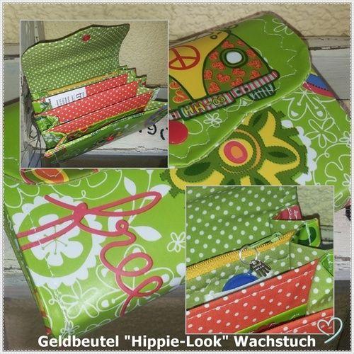Makerist - Geldbeutel Hippy-Style- Wachstuch&Stoff - Nähprojekte - 1