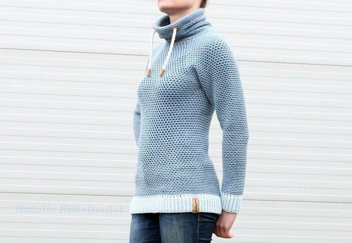 "Makerist - Hoodie ""Jeans"" - Häkelprojekte - 1"