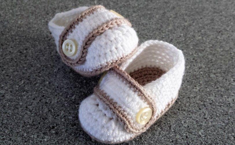 Makerist - Babyschuhe mit Riegel - Häkelprojekte - 1
