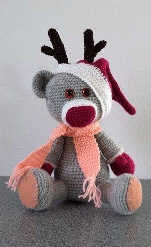 Makerist - Weihnachtsrenntierteddy :) - Häkelprojekte - 1