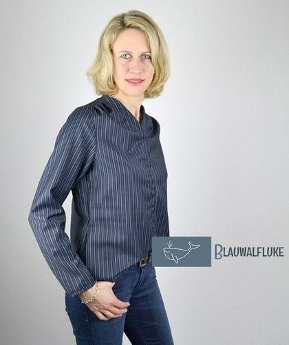 Makerist - Bluse Bellah von Prülla aus Nadelstreifen - Nähprojekte - 1