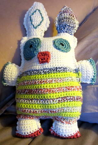Makerist - doudou en forme de monstre au crochet - 1