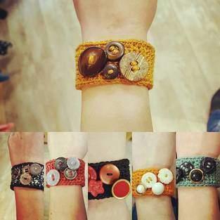 Makerist - Bracelet au crochet avec boutons fantaisie - 1