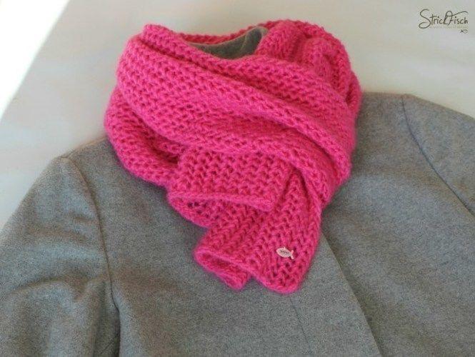 Makerist - Pinker Globstrickschal - Strickprojekte - 2