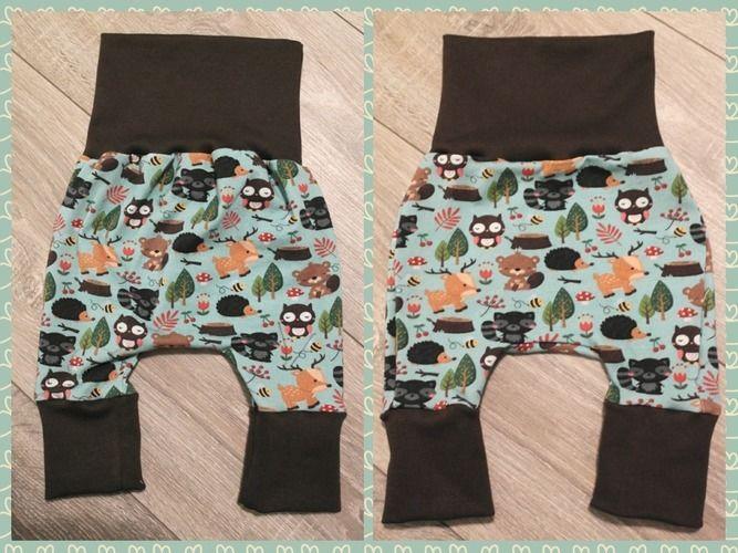 Makerist - Eine niedliche kleine Hose aus Jersey mit Waldtieren - Nähprojekte - 1