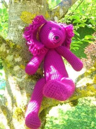 Makerist - Petit chien violet. En laine au crochet.  - 1