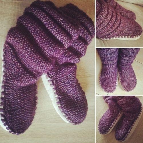 7baa6ef5dc3c Tricot Chaussons-chaussettes Femme  de Lover Ailec - Créations de tricot