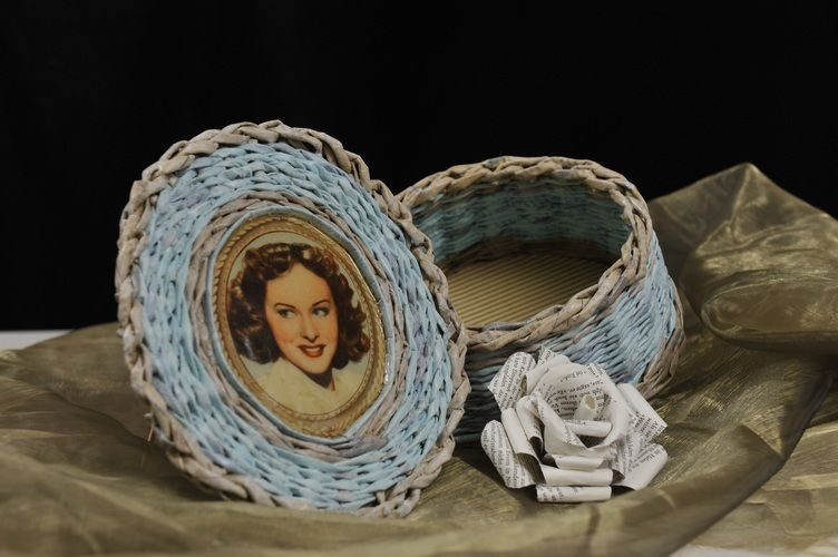 Makerist - Vintage Korb aus Zeitungspapier - DIY-Projekte - 1