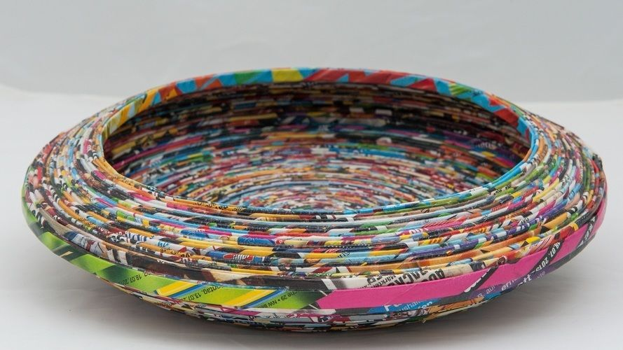 """Makerist - Schale """"Samba"""", Papier Upcycling - DIY-Projekte - 1"""