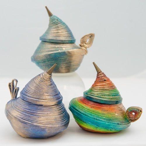 """Makerist - Schräge Vögel"""" Deckeldosen aus Zeitungspapier - DIY-Projekte - 1"""
