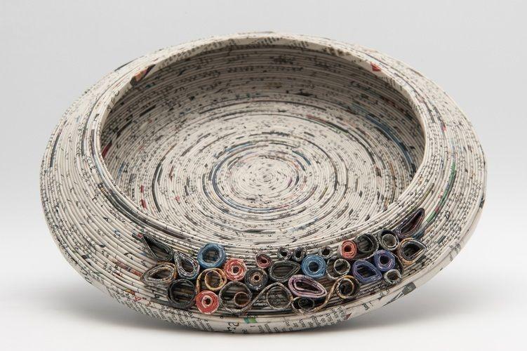 "Makerist - Schale ""Ornaments"" aus Zeitungspapier. Upcycling - DIY-Projekte - 1"