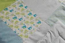 Makerist - Babydecke Elefant Vichykaro hellblau - 1