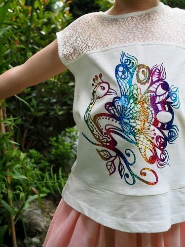 Makerist - Plotterdatei Pfau  - Textilgestaltung - 1